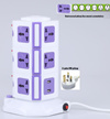 3 layer 2 usb 11ways outlets Vertical Stand Tower power strip Extension Socket Plug Anti-thunder