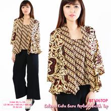 REVERSIBLE Blazer Motif Batik Dua Sisi - Modern Batik Tops - Blus Batik - Office and Casual Style