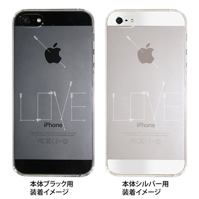 【iPhone5S】【iPhone5】【Clear Fashion】【iPhone5ケース】【カバー】【スマホケース】【クリアケース】【LOVE】 41-ip5-ao0002の画像