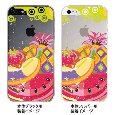【iPhone5S】【iPhone5】【Clear Fashion】【iPhone5ケース】【カバー】【スマホケース】【クリアケース】【フルーツ】 ip5-21-ca0002の画像