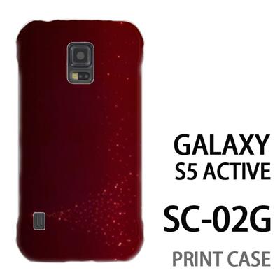 GALAXY S5 Active SC-02G 用『1204 星のツリー 赤』特殊印刷ケース【 galaxy s5 active SC-02G sc02g SC02G galaxys5 ギャラクシー ギャラクシーs5 アクティブ docomo ケース プリント カバー スマホケース スマホカバー】の画像