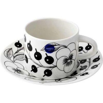 ARABIAアラビアアラビアArabiaAR006677AR006678BlackParatiisiCup&Saucerset280ml/16.5cmブラックパラティッシティーカップ&ソーサー(プレート皿)セット≪北欧食器≫ugab00013u