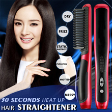 Safe Hair Straightener Comb  Dry/Frizz/Static electricity/Bifurcation/Knotted/Messy All Can be Solve
