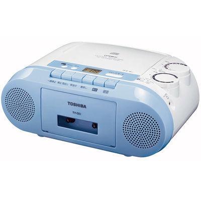 東芝FM補完放送も受信できるFMワイドバンド対応CDラジカセブルーTY-CK2-L