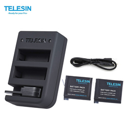 Telesin Charger and Batteries Kit/Extended Battery for Gopro Hero 4/5