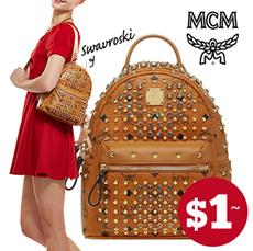 【EMS FREE!!】★MCM BACKPACK★MCM GOLD VISETOS MINI backpack/ bag / MCM / wallet / MCM bag