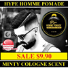 ★SALE $9.90★BUY 2 FREE 1 TNG COMB★HYPE HOMME POMADE / One Of The Best Pomade In Town / Exclusive Minty Cologne Scent / Water Based / Strong Hold / A Must Try For All Bros / Fast Delivery