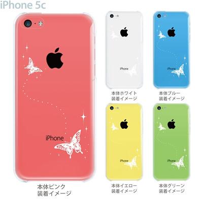 【iPhone5c】【iPhone5cケース】【iPhone5cカバー】【ケース】【カバー】【スマホケース】【クリアケース】【クリアーアーツ】【蝶】 22-ip5c-ca0007の画像