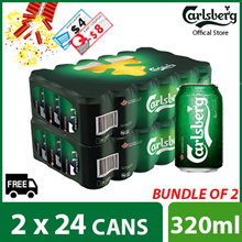 ($81.88) with $8 Cart and $4 shop coupon Bundle of 2 - Carlsberg Green Label Can 320ml ( 48 cans )