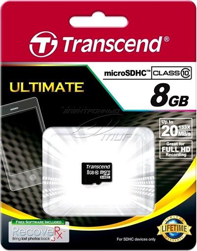 正規国内販売代理店トランセンド8GBmicroSDHCCARDClass10SD2.0TS8GUSDC10SDカドアダプタなし