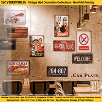 Vintage Wall Decoration Collections 1- Retro Fashion Sign Board Car Plate Bottlecap Quote Frame