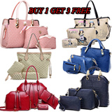 **BUY 1 GET 3 FREE**【LOVE*FAMILY】 2015 Summer New Fashion❤Women Composite Bags❤Lady Shoulder Bag/Women Hand Bag/Wallet Bag❤Tote Purse PU Leather❤Girls Favoursite Bag❤Clutch Bags DDB014