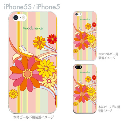 【iPhone5S】【iPhone5】【Vuodenaika】【iPhone5ケース】【カバー】【スマホケース】【クリアケース】【フラワー】 ip5-21-ne0006の画像
