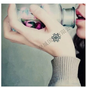 纹身贴纸防水纹身流行色男女原宿美丽的雪花纹身贴纸