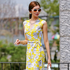 [Esther Style] Lemona Open Lap Dress/ made in korea / Summer Dress / sleeveless Dress / Work dress / Pattern Dress
