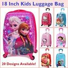 20 Design Cartoon Cute Suitcase Luggage Frozen Spiderman Strawberry Girl Dora Hello Kitty Transformer Doraemon Angry Bird Trolley Kids Travel Bag Gift