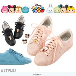 ♥New Arrival♥Gracegift-Disney TsumTsum Shoelace Charm Lace Up Sneakers/Women Shoes