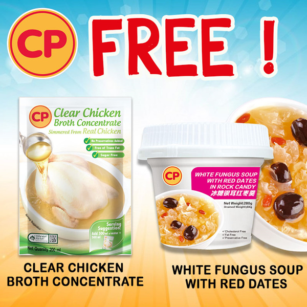 [CP Food] FREE GIVEAWAY! Clear Chicken Broth Concentrate / White Fungus Red Date Dessert Deals for only S$99 instead of S$0