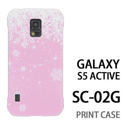 GALAXY S5 Active SC-02G 用『1205 雪結晶の模様 ピンク』特殊印刷ケース【 galaxy s5 active SC-02G sc02g SC02G galaxys5 ギャラクシー ギャラクシーs5 アクティブ docomo ケース プリント カバー スマホケース スマホカバー】の画像