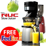 [1DAY SUPER DEAL!!] NUC Whole Slow Juicer Extractor Mixer cuttless 220V-240V WSJ-962K WSJ-972K B6000S red silver
