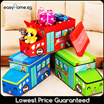 Toy Storage Box / Foldable Zoo Ice Cream Cartoon Organizer Trunk Car Children Baby Kids Stool
