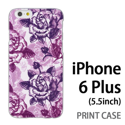 iPhone6 Plus (5.5インチ) 用『0113 たくさんの薔薇 紫』特殊印刷ケース【 iphone6 plus iphone アイフォン アイフォン6 プラス au docomo softbank Apple ケース プリント カバー スマホケース スマホカバー 】の画像