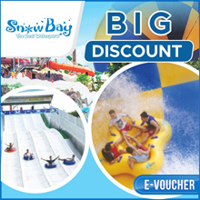 ☆SnowBay☆50% Off Tiket Masuk SnowBay di TMII_Weekend/weekday/libur/All Day Ticket_Promo Boneka Gratis_waterbom_snow bay