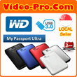 WD My Passport Ultra 1TB Portable External USB 3.0 Hard Drive with Auto Backup - Black / Blue / Red / Titanium / White