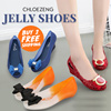 2016 New Arrivals Hot Selling Jelly Shoes women shoes Summer Favourites Ribbon Jelly Heels Sandals Wedges