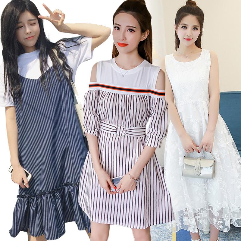 ワンピース 韓国ファッション 春ワンピース ドレス 結婚式ワンピース 花柄ワンピース シフォンワンピース 2点セットアップ・スカート レース/膝ワンピース マキシワンピース