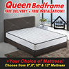 ★NEXT DAY DELIVERY!★HOTTEST SALE★Queen Size 6 Inch Mattress + Bed Frame + 2 Free Pillow for ONLY $175!☆Bedroom☆Bed Frame☆Furniture☆Mattress☆Cheap☆6 8 10 12 Inch Mattresses Available. Free Delivery!