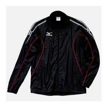 【クリックで詳細表示】ミズノ(MIZUNO) アスタースーツ(サウナスーツジャケット) A60WS15496 ブラック×レッド 【メンズトレーニングウェア ウインドブレーカー アスレ】