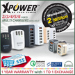 XPower Smart Chargers with 1 Year Local Warranty | Wireless | Quick Charge | Type C Charge