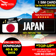 Japan :( Softbank Network ) 3.6GB highspeed UNLIMITED  4G Data for 30days.Can Top-Up