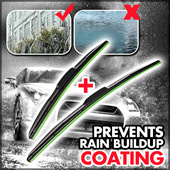 Auto Coating ! Clear even not use!Wind Shield Wiper Blades one pair/ PREMIUM QUALITY ! / For Car /Wipe Clean / Smooth Chatter-free / All Weather tough / Prevent Rain Buildup / Durable 【M18】