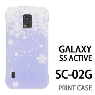 GALAXY S5 Active SC-02G 用『1205 雪結晶の模様 水』特殊印刷ケース【 galaxy s5 active SC-02G sc02g SC02G galaxys5 ギャラクシー ギャラクシーs5 アクティブ docomo ケース プリント カバー スマホケース スマホカバー】の画像