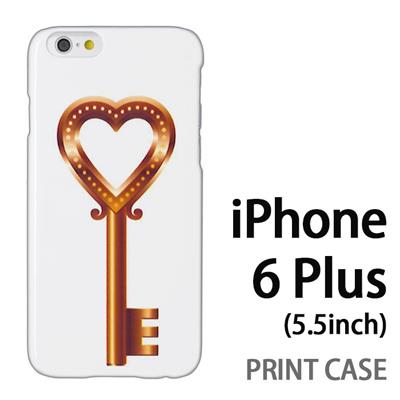 iPhone6 Plus (5.5インチ) 用『0113 恋の鍵 金』特殊印刷ケース【 iphone6 plus iphone アイフォン アイフォン6 プラス au docomo softbank Apple ケース プリント カバー スマホケース スマホカバー 】の画像