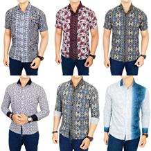 [New Updated 22/02] Kemeja Batik Pria Slim Fit / Banyak Warna dan Motif / Best Selller / batik pria batik wanita batik couple kemeja batik