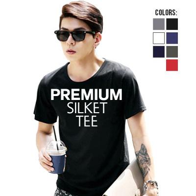 Buy Korea Style Premium Silket Short Sleeve Men Tee Tas