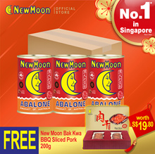 AU 5 to 7 abalones - 3 cans SPECIAL GIFTSET + FOC BAK KWA 200G WORTH $19.80
