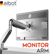 [READY STOCK IN SG!]★ aibot® MONITOR (LCD) ARM- HYDRAULIC ★GERMAN STATE OF THE ART TECHNOLOGY★ Gas spring counter balance technology★ SUPERIOR PREMIUM QUALITY AND WORKMANSHIP★ ISO Standard★ RESTOCKED