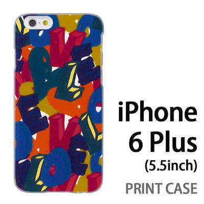 iPhone6 Plus (5.5インチ) 用『0112 トロピカルLOVE 黄』特殊印刷ケース【 iphone6 plus iphone アイフォン アイフォン6 プラス au docomo softbank Apple ケース プリント カバー スマホケース スマホカバー 】の画像