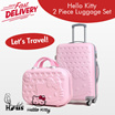 Hello Kitty Themed 2 Piece Luggage Set