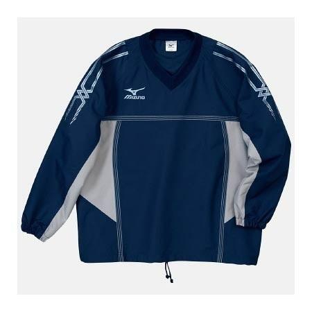 【クリックで詳細表示】ミズノ(MIZUNO) タフブレーカーシャツ A60WS15514 ネイビー×シルバー 【メンズトレーニングウェア ウインドブレーカー アスレ】