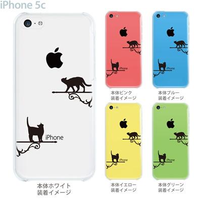 【iPhone5c】【iPhone5cケース】【iPhone5cカバー】【ケース】【カバー】【スマホケース】【クリアケース】【クリアーアーツ】【ネコ】 22-ip5c-ca0084の画像