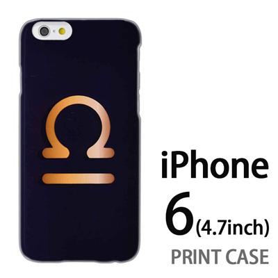 iPhone6 (4.7インチ) 用『0720 星座てんびん座マーク』特殊印刷ケース【 iphone6 iphone アイフォン アイフォン6 au docomo softbank Apple ケース プリント カバー スマホケース スマホカバー 】の画像