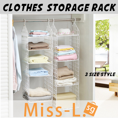 Qoo10 Clothes Storage Rack Folding Wardrobe Closet