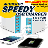 Authentic SPEEDY Multi-USB charger/ Multi-USB adapter /Beat Anker/ Compatible with iphone/ipad/samsung/Xiaomi/Lenovo/Asus/ wall charger phones/tablets/powerbank/portable charger/Charging Cables