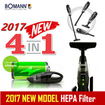 [BOMANN] 2017 NEW 4in1 Cordless Handy Vacuum Cleaner VC7211 Tornado power suction / HEPA Filter