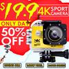 ◎4K WiFi sports camera underwater camera waterproof diving wide-angle 3D aerial camera